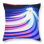 Orchid In A Stream Throw Pillow