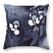 Orchid In Indigo Throw Pillow