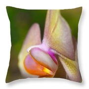 Orchid In Profile Throw Pillow