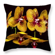 Orchid In Space Throw Pillow
