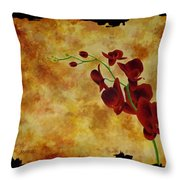 Orchid Interplay Throw Pillow