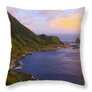 Orchid Island Throw Pillow