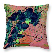 Orchid Japanaise Throw Pillow