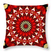 Orchid Kaleidoscope 9 Throw Pillow