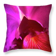 Orchid Landscape Throw Pillow