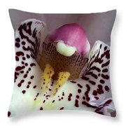 Orchid Like A Muzzle Throw Pillow