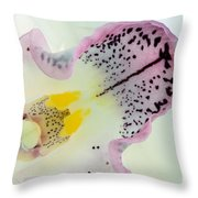 Orchid Throw Pillow by Mark Johnson