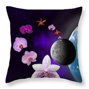 Orchid Moon Base Throw Pillow