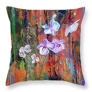 Orchid O Throw Pillow