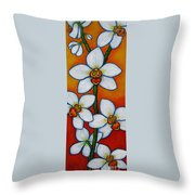 Orchid Oasis Throw Pillow