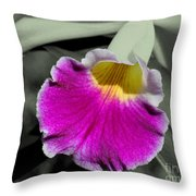 Orchid Of A Different Color Throw Pillow