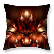 Orchid Of Love Throw Pillow
