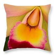 Orchid Painting Throw Pillow