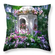 Orchid Paradise Throw Pillow
