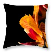 Orchid Petals Throw Pillow