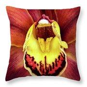 Orchid Queen Throw Pillow