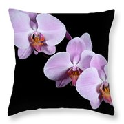 Pink Orchid I Throw Pillow