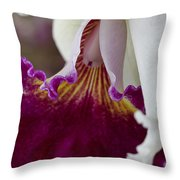 Orchid Ruffle Throw Pillow