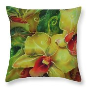 Orchid Series 11 Throw Pillow