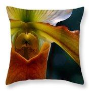 Orchid Slipper Throw Pillow
