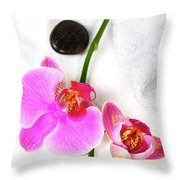 Orchid Spa Composition Throw Pillow