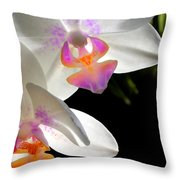 Orchid Spring Throw Pillow