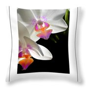 Orchid Spring Poster Throw Pillow