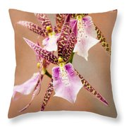 Orchid Stars Throw Pillow