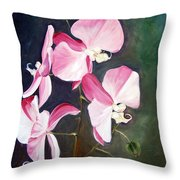Orchid Study IIi Throw Pillow
