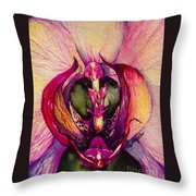 Orchid Tabernacle Throw Pillow