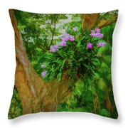 Orchid Tree Throw Pillow