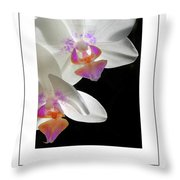 Orchid Underneath Poster Throw Pillow
