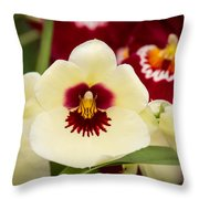 Orchid Vii Throw Pillow