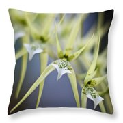 Orchid Wave Throw Pillow