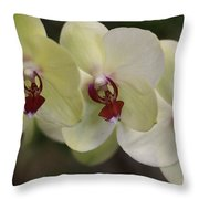 Orchid White Trio Throw Pillow
