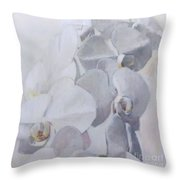 Orchidee Blanche Des Miracles Throw Pillow