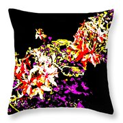 Orchidelia Throw Pillow