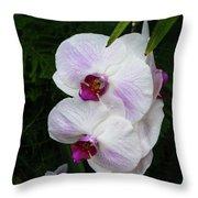 Orchids #1 Throw Pillow