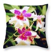 Orchids 1 Throw Pillow
