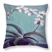 Orchids 5 Throw Pillow