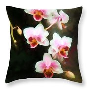 Orchids Abound Throw Pillow