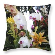 Orchids And Iron Throw Pillow