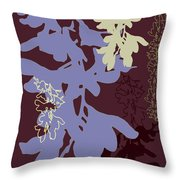 Orchids Cocoa-lavender  Throw Pillow