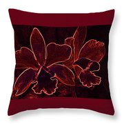 Orchids - For Pele Throw Pillow