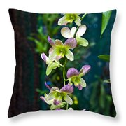Orchids Throw Pillow