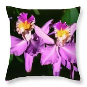 Orchids In Costa Rica Throw Pillow