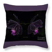 Orchids In Neon Throw Pillow