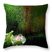 Orchids In The Rain Throw Pillow
