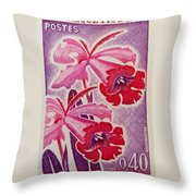 Orchids Of Orleans France 1967 Throw Pillow
