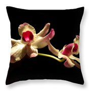 Orchids Only Throw Pillow